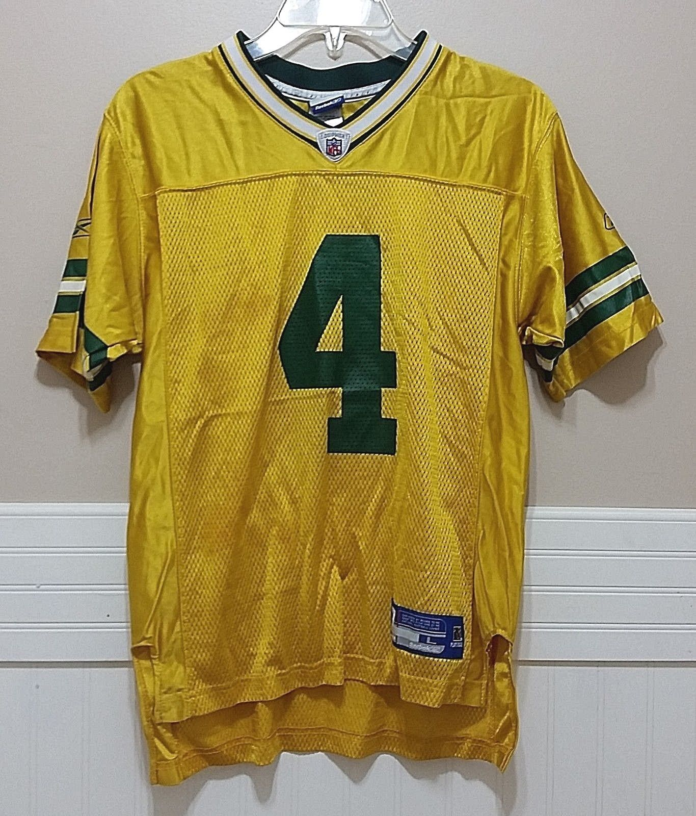 lowest price c8af6 85e10 Brett Favre #4 Jersey Reebok Green Bay and 28 similar items