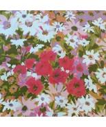 "Vintage Everglaze Fabric Pink Spring Flower Floral 47"" X 108"" 3 Yards Co... - $74.36"