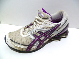 Womans 8 Asics Gel-Frantic 6 White Purple running womens athletic shoes (bf) - $16.14