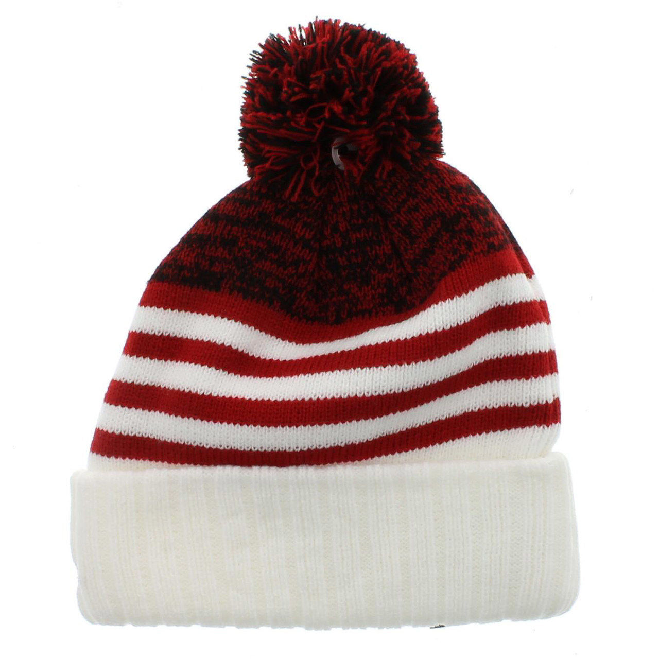 New Era San Francisco 49ers Snowfall Stripe Cuffed Knit Hat With Pom