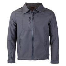 Maximos Men's Lightweight Water Resistant Windbreaker Jacket JERRY (Small, Grey)