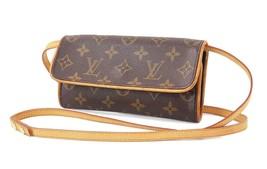 Authentic LOUIS VUITTON Twin PM Monogram Pochette Clutch Shoulder Bag #3... - $459.00