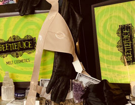 Melt X Beetlejuice Lydia Mirror, Brush Set & Bag ( pouch / Clutch) NWOB FROM PR image 8