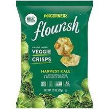 PopCorners Flourish Harvest Kale Veggie Crisps | Plant-Based Protein, Gluten Fre