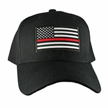 Lot of 2 Thin Red Line Hat USA Fire Department American Black Embroidere... - £21.60 GBP