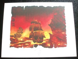 Disney Pirates of the Caribbean Ships Lithograph - Limited Release - $19.95