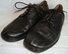 Florsheim Comfortech Black Leather Oxford Shoes 14 Lace Up Dot Matrix System - $59.95
