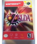 Zelda Majora's Mask - Nintendo 64 - Replacement Case - No Game - $7.91
