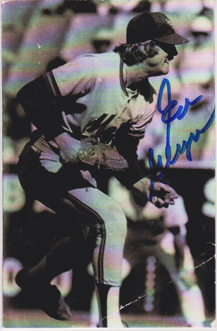 Primary image for Ed Glynn Signed Autographed Vintage Postcard - New York Mets