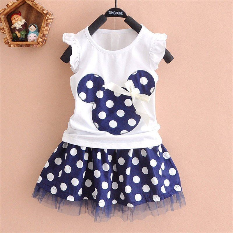 DUDU&DIDI® 1-4Y Summer Baby Kid Girls Princess Clothes Cartoon Party Mini Dress