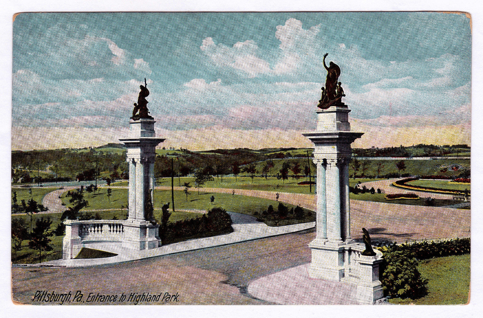 1907-1915 Pittsburgh PA Entrance to Highland and 50 similar