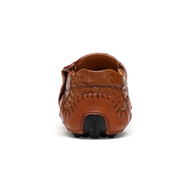 Men's on for male shoes 46 slip casual Leather comfortable size big 38 Loafers w0xr04Iq
