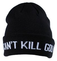 Gold Skateboarding Black Can't Kill Gold Fold Skate Beanie Knit Winter Skull Cap