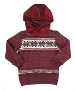 Pullover design graphic print sweater with hood  - $15.99