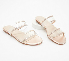 Marc Fisher Patent Clear Acrylic Slide Sandals -Calin Cipria 6 M - $39.59