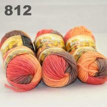 6x50gr Skeins NEW Chunky Hand Coarse Knitting Scores wool yarn Camel Orange  812 - $51.00