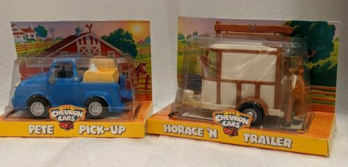 Primary image for CHEVRON CARS PETE PICK-UP & HORACE 'N TRAILER VINTAGE 3+ NEW TOY KIDS CHILDREN