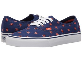 Vans New York Mets MLB Authentic Sneaker Limited Edition Shoes BLUE - $45.50