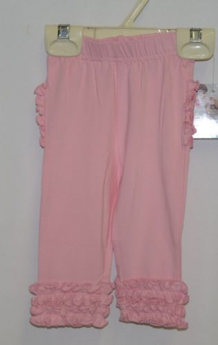 Ruffle Butts SPKP100 Everyday Pink Ruffles Pants Leggings 0 to 6 Months