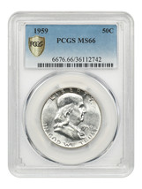 1959 50c PCGS MS66 - Franklin Half Dollar - $572.30