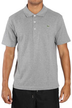 NEW LACOSTE SPORT MEN'S ATHLETIC COTTON POLO T-SHIRT ARGENT L1264 51 CCA T5
