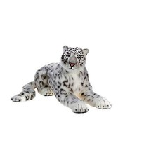 Life Sized Stuffed Toy Animal Snow Leopard White Plush Soft Kids Childre... - $595.31