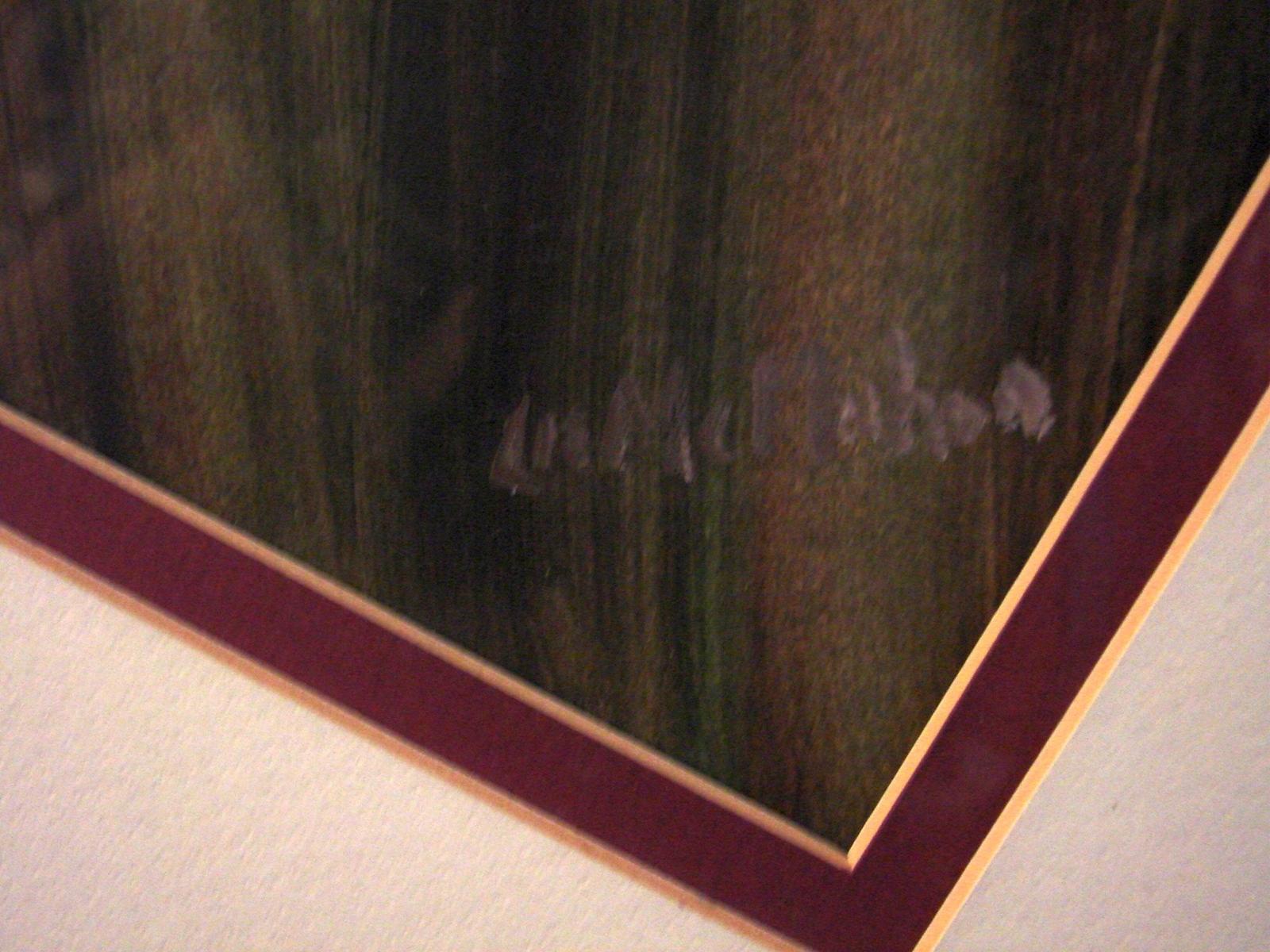 Elizabeth McMahon Painting Under Glass