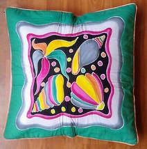 New Handpainted Batik Star Fish Shells 23X23 Inch Cotton Pillow Cover Bali - $23.38