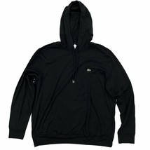 Lacoste Men's Hooded T-Shirt Regular Fit Black Long Sleeve Lightweight H... - $54.99