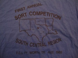 Vintage First Annual Sort Competition South Central Region 89 T Shirt Size M - $11.87