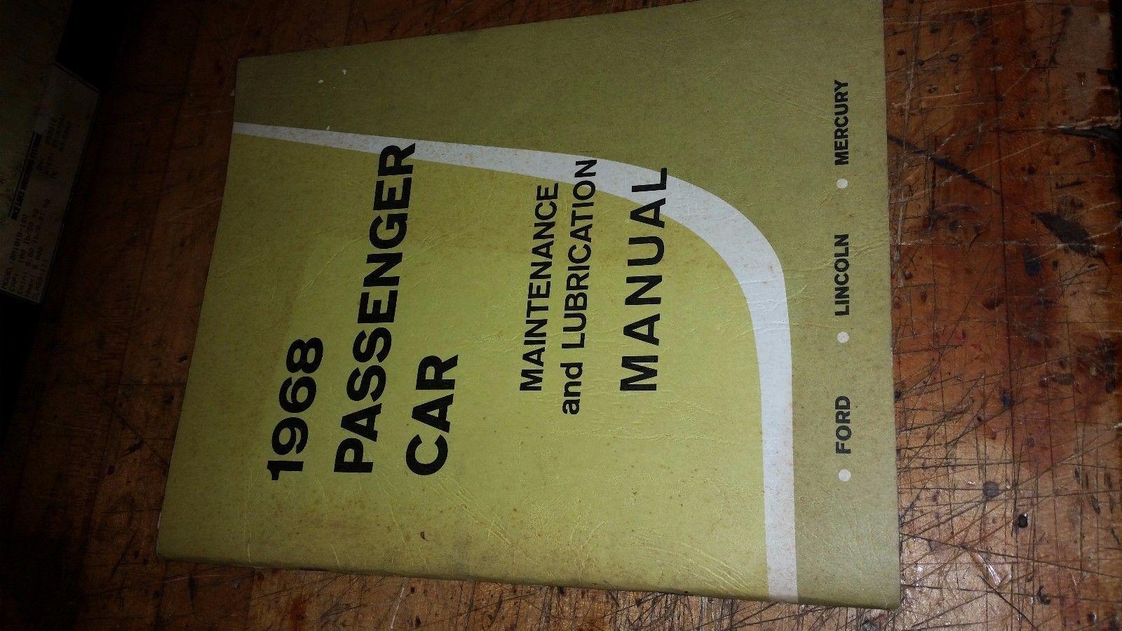 1968 Cougar Fairlane Falcon Montego Mustang Shop Manual Repair Maintenance Book