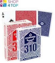 2 DECKS COPAG 310 JUMBO POKER CARDS PAPER 1 BLUE 1 RED NEW - $15.43