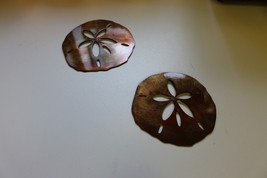 Set of Two Sand Dollars Tropical Metal Wall Art Accents - $14.84