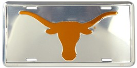 University of Texas Longhorns Chrome Metal Car License Plate Auto Tag Sign - $6.95