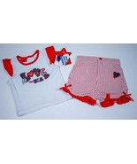 AMERICAN BABY GIRLS NWT 18M OUTFIT TOP SHORTS PATRIOTIC AMERICAN FOURTH ... - $12.86