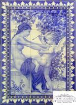 CUPID Hand Painted Ceramic Tile Mural Backsplash   Custom Painted Indoor... - $1,050.00