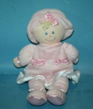 Kids Preferred Plush Toy My 1st Baby Doll Blonde Pink Dress 2010 Bows St... - $17.39
