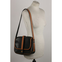 Authentic Hermes Vintage Black and Tan Leather Noumea Shoulder Bag image 2
