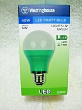 Westinghouse Led Green 40 Watt Party Bulb Uses Only 5 Watts Of Power-Medium Base - $14.95