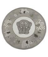 Rug USA 5' x 5' Kids Elephant Ganesha Gray HandTufted 100% Woolen Area Rugs - $177.21