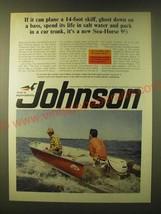 1966 Johnson Sea-Horse 9 1/2 Outboard Motor Ad - $14.99