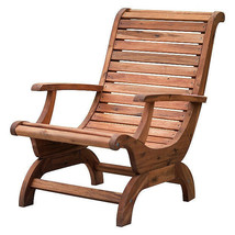 Teak Oiled Plantation Adirondack Outdoor Patio Deck Chair - New! - £268.94 GBP