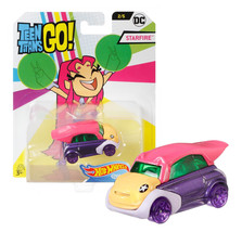 Hot Wheels Teen Titans Go! Starfire Character Cars Mint on Card - $12.88