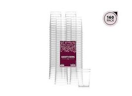 Elite Selection Pack Of 160 Disposable Party Hard Plastic 2 Oz. Shot Gla... - $15.73