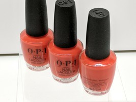3 LOT - OPI Nail Lacquer - NLL22 - A Red-Vival City - Brand New - $14.65