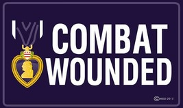 PURPLE HEART COMBAT WOUNDED 3 X 5  FLAG banner FL681 NEW 3x5 MILITARY fl... - $8.98