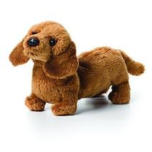 DEMDACO Light Brown Dachshund Children's Plush Beanbag Stuffed Animal Toy - $16.98