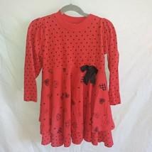 Buster Brown Sz. 6 Girls Red Long Sleeve Dress - $7.70