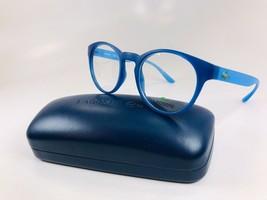 New KIDS LACOSTE L3910 424 Blue & Azure Eyeglasses 46mm with Case - $74.20