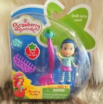 "NIP Strawberry Shortcake Mini 3"" Doll BlueBerry Muffin Blue Hair & Acces... - $32.99"